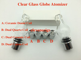 Wholesale Dry Tank For Ego Vape - New Glass Globe Atomizer pyrex glass tank Wax dry herb vape e-cigarette Singl coil Replacement Ceramic Coil for EGo-T battery