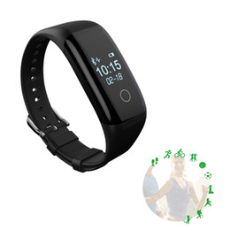 Wholesale Bluetooth Standards - Bluetooth 4.0 Smart Sport Bracelet Smart Band IP67 Waterproof Fitness Tracker BMI Standard Weight Sestion For Android iOS Retail Package