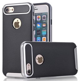Wholesale Iphone 5c Armor Case - Original VERUS Armor Case for iphone7 iphone 7Plus Luxury Carbon Fiber shockproof heavy duty cover for iphone6s 6splus 5s SE 5C 4S