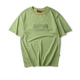 Wholesale Summer Tops T Shirt Women - 2017 Tea Peach Suprem T Shirts Men Women Summer Short Sleeve Tops Tees Hip Hop Embroidered Box Logo Cotton T-shirts 7 Colors S-2XL
