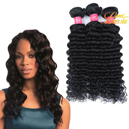 Wholesale prices deep wave - 8-26Inch Brazilian Virgin Human Hair Extension Deep Wave Wholesale Price Deep Curly Hair Weft Natural Color Can Be Dyed Free Shipping