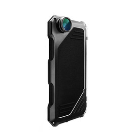 Wholesale Impact Lens - For iPhone7 Phone Case Screen Protector Shockproof Waterproof Dust proof High Impact Aluminum Alloy Case With 3 Separated Camera Lens Kit