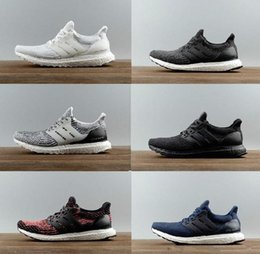 Wholesale Cheapest Casuals Shoes - Cheapest Ultra Boost 3.0 Triple Running Shoes Men Women Ultraboost 3 Primeknit Black White Casual Mens Womens Trainers Sneakers Shoes