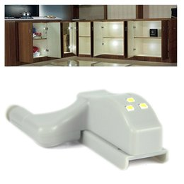Wholesale Hinge Kitchen - 10pcs  Lot Home Universal Cabinet Cupboard Hinge Cold White LED Light Wardrobe System Modern Home Kitchen Lamp