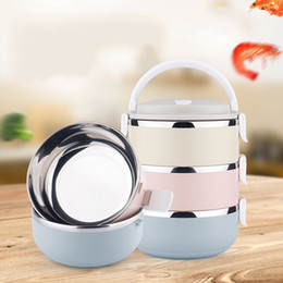 Wholesale Wholesale Plastic Containers Chinese - Portable Stainless Steel Bento Box Creatively Colorful Lunch Boxes For Food With Containers Lunch Case Of Kids Picnic 24 44qh A R