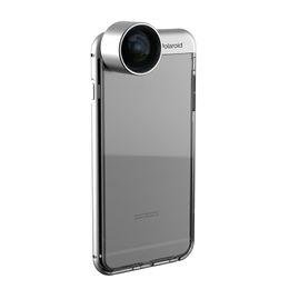 Wholesale Tpu Smartphone Case - Smartphone Camera Lens iPhone Dual Proof Aluminum Bumper Case + TPU Protection Detach with Lens iphone camera lens