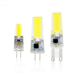 Wholesale E14 Led Cob Corn Bulb - Dimmable COB G4 G9 E14 LED Lamp 12V AC DC Real Power 3W 6W 9W G4 COB Bulb Chandelier Lamps Replace Halogen LED E14 G9