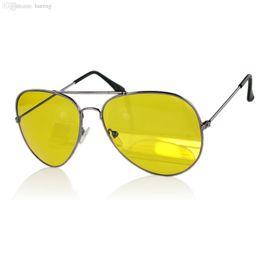 Wholesale Man View - HOT SALE-UV400 HD Night Vision Sun Glasses Yellow Driving View Sunglasses