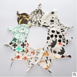Wholesale Tents Animal - Ins Beanie for Toddler Kids Hat Beanie Cap Baby Infant Winter Warm Panda Feather Tent Caps Girls Animal Print Beanie Xmas Headwear Cap