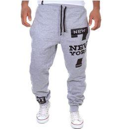 Wholesale Wholesale Hip Hop Sweat Pants - Wholesale- Men Dance Baggy Harem Pants Sweat Pants Hip Hop Mens Pants Loose Swag Full Length Trousers Print Streetwear Plus Size Z20