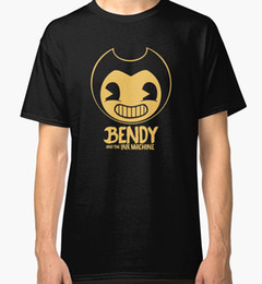 Wholesale Ink Print Machine - 2017 New Arrival Bendy and the Ink Machine Men's Tees Shirt Clothing free shipping t shirt