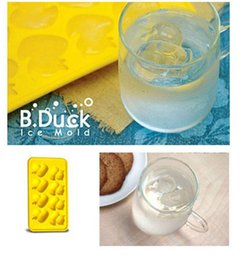 Wholesale Silicone Duck - Duck Shape Ice Mold Silicone Cookie Cutter Ice Trays Cooking Bakeware Tools Ice Cube Frozen Randomly Color