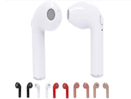 Wholesale Hot New Headphones - 20pcs New Hot HBQ I7 TWS Twins Mini Bluetooth Earbud Wireless Invisible Headphones Headset With Mic Stereo V4.2 Earphone for Iphone Android