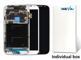 Wholesale Galaxy S4 Lcd Black - Black 100% NEW For Samsung Galaxy S4 i9500 I337 I9500 I545 I9506 I9505 LCD Assembly Display Screen Replacement with Frame