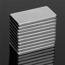 Wholesale Magnet Rectangle - Mathtype magnets 50pcs 20 x 10 x 2mm N35 Super Rectangle Strong Rare Earth Rare Earth Neodymium Magnets NdFeB Magnetic Materials Powerful