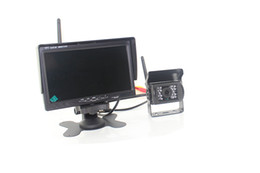 Wholesale Wireless Parking Sensors Camera - Auto Truck Wireless Rearview Camera Car Parking PZ607W 7 Inch Camera Pixal 648*488 2 Way Video In Free DHL
