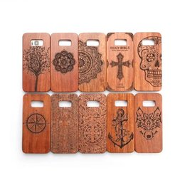 Wholesale Galaxy Case Handmade - Unique Handmade Genuine Natural Wood Wooden Rosewood + PC Case Hard Case Cover for Samsung Galaxy S8 S8 plus