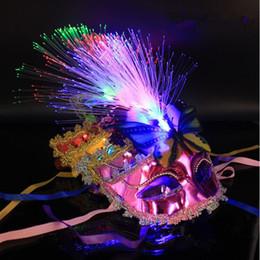 Wholesale Led Light Eye Mask - 2017 Creative Flashing Butterfly Fiber Mask LED Lighting Eye Masks Women Stage Performance Props Party