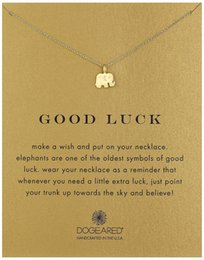 Wholesale Gold Luck Necklace - Dogeared Necklace with elephant pendant(good luck elephant), silver and gold color, no fade, free shipping and high quality.