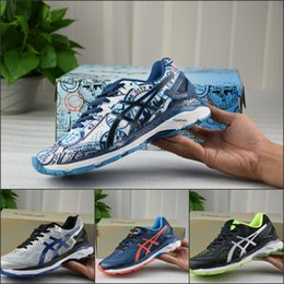 Wholesale Authentic Boots - Discount 2017 Asics GEL-KAYANO 23 For Men Running Shoes New Color Jogging Sneakers Authentic Sneakers Sports Shoes Boots Size 36-45