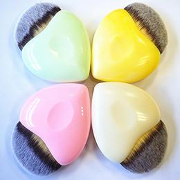 Wholesale Heart Shape Brush - Heart Shaped Makeup Brushes Mermaid Makeup Brushes Powder Blush Foundation Brushes Cosmetic Tool Cute Heart Contour BB Cream New 3001042