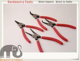 Wholesale Chrome Vanadium - 7in Circlip Pliers Snap Ring Pliers Internal External Straight Bent 4pc Set 2.0mm Tip