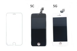 Wholesale Cell Phone Glass Lcd Screens - Best Quality Tempered Glass Film For IPhone 5 & Cell Phone Screen Protectors LCD Display Touch Screen Digitizer Assembly Repair Parts