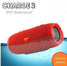Wholesale Mini Car Power Bank - Crazy Cube Charge 3 Fashion Designed Mini Portable Bluetooth IPX7 Waterproof Car Speaker with power bank pk flip pulse 2 CHR2