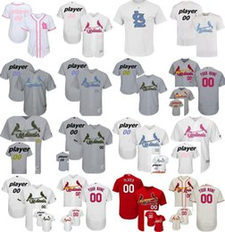 Wholesale Male Ladies Child Toddler Mother Father Memorial day Fashion St Louis Cardinals Custom Flex Cool baseball Jerseys Grey White Red Beige