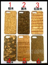 Wholesale Wood Cork Case - 6+ 6s+ Simple Cork Wood Case for iPhone 6 6S 7 PLUS Blank Wooden Cover Protector Coque Back Plastic case
