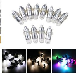 Wholesale Small Paper Lanterns Wholesale - Small Mini Waterproof Submersible LED Balloon Lamp White LED Light for Paper Lantern Party Wedding Decoration Mariage