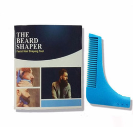 Wholesale Models Boys - Beard Bro Shaping Tool Styling Template BEARD SHAPER Comb for Template Beard Modelling Tools 10 COLORS SHIP BY DHL