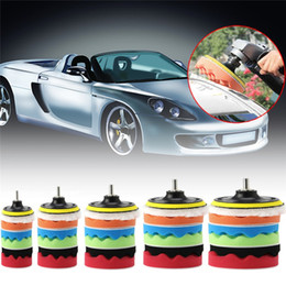 "Wholesale Car Waxes - 7pcs 3 4 5 6 7"" car polishing pad set Polishing Buffer Waxing Buffing Pad Drill Set Kit Car Polishing sponge Wheel Kit polisher for car"