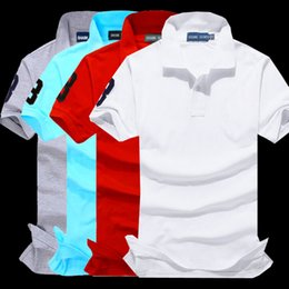 Wholesale Men S Fitted Polo Shirts - Hot sell New Summer MenTop quality Big Horse Embroidery Polo Fashion Short Sleeve Polos Shirt Men Slim Fit Mens Clothing Trend Casual Polo