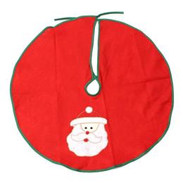 Suportes de ornamento on-line-Atacado-Santa Claus Christmas Tree Saia Stands Ornamentos Xmas Party Decoração Pai Natal 60cm Navidad Padrão