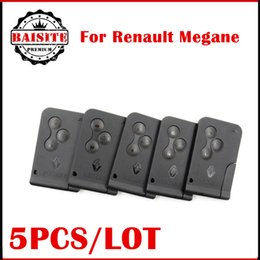Wholesale 3g Chips - High Quality renault megane card key Renault Megane 3 button remote key megane keycard with 433Mhz PCF7947 Chip 5pcs lot free shipping