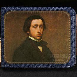 Wholesale Cartoons Artist - Edgar Degas wallet Painter design purse Artist casual short cash note case Money notecase Leather burse bag Card holders