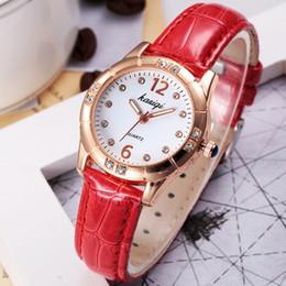Wholesale Ladies Watches Korean - New Korean Brand Luxury Watches Ladies Diamond High G School Students Trend Leisure Waterproof Aaa Watch
