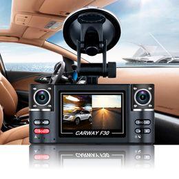 "Wholesale Dvr Cam Rear - Car DVR 2.7"" TFT LCD HD 1080P Dual Camera Rotated lens Vehicle Digital Video Recorder Night Vision Rear view Dash Cam"