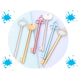 Wholesale Wholesale For School Supplies - Creative 15pcs Lot Key Shape Gel PensFashion Girl Pen For School Stationery Office Supplies Student Learning Writing Gifts Prize Pens