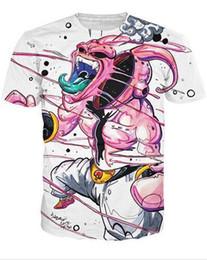 Japão animal on-line-Nova Chegada Japão Anime Dragonball Z 3d Camiseta Super Saiyan T-shirt de Manga Curta Homens Moda dos desenhos animados tee merdas topos