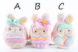 Wholesale Twin Stars - Wholesale- Cute Girl Little Twin Stars My melody Purse Coin Wallet Bag Cartoon Soft Plush Pendant Chain Coin Gift