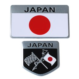 Wholesale Stickers Decals For Honda - Metal Japanese Flag Emblem Badge JAPAN Car Sticker Decals Accessories for Toyoto Honda Nissan Mazda Lexus Mitsubishi Car Styling