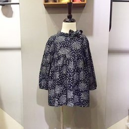 Wholesale Dress Sweet Lace Dot - Baby Girl Dress Long Sleeve A-Line O-Neck 100% Cotton Embroidered Autumn Winter Princess Lady Skirt T-Shirts Printing Sweet Lovely Fashion