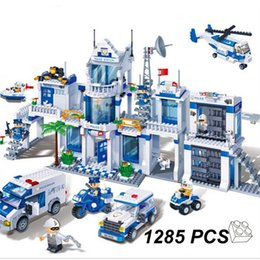 Wholesale Toy Police Stations - Model building kits compatible with lecgo City Extra Large Police Station 3D blocks Educational model building toys