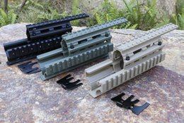 Wholesale Green Rails - AK 47 74 Tactical Quad Rails (Y0020) Hunting Shooting Tactical RIS Quad Rail Rail mount Black Sand Green Free Shipping