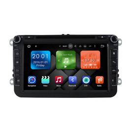 "Wholesale Gps For Vw Tiguan - 8""Pure Android 6.0 Car DVD Octa Core 32G ROM 1024*600 Screen Car Raio for VW Golf mk6 5 Polo Jetta Tiguan Passat B6 B5 CC Skoda"