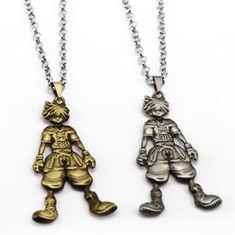 Wholesale Metal Doll Necklaces - Statement Jewelry Anime Cartoon Kingdom Hearts Necklace Sora Dolls Figure Metal Pendant Necklace