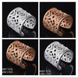 2019 бриллиантовое кольцо лучшая цена!Розовое золото 925 стерлингового серебра преувеличение 21 мм Алмаз Открытие кольцо подвески ювелирные изделия 10 шт. / лот горячие продажа скидка бриллиантовое кольцо