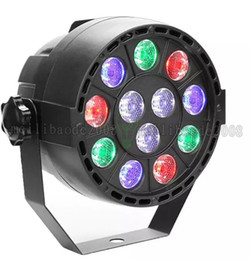 Wholesale Dmx Led Strobe - NEW 12W RGBW Stage Lighting With DMX Model 12 Led Par Lights Voice Activated Disco Christmas Light For DJ Stage Party MYY